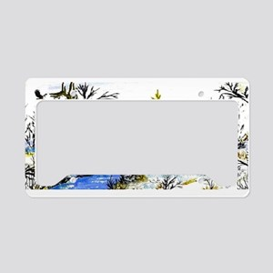 Native American Warrior License Plate Holder