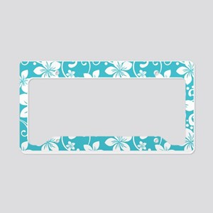 Plumeria Blue Curacao License Plate Holder