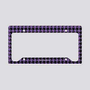 Houndstooth Purple License Plate Holder