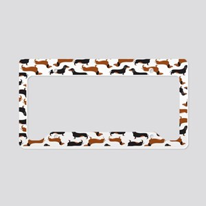 Dachshund White License Plate Holder