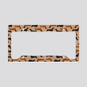 XX Khaki License Plate Holder