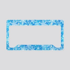 Feathery Snowflakes License Plate Holder