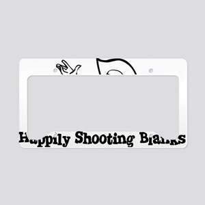 Happily Shooting Blanks License Plate Holder