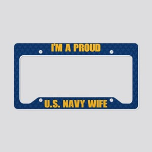 U.S. Navy Wife License Plate Holder