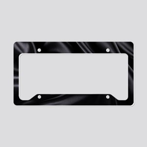 Black Silk License Plate Holder