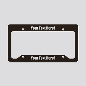 Custom Text Carbon License Plate Holder