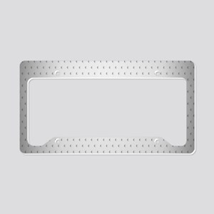 Dotted Metallic License Plate Holder