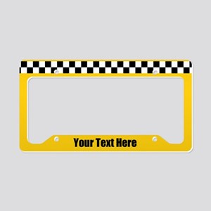 Custom Taxi License Plate Holder