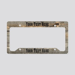 Custom Western License Plate Holder