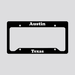 Austin Texas License Plate Holder