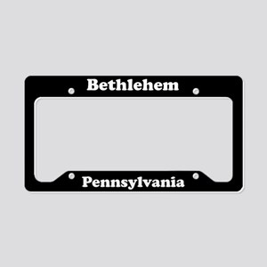 Bethlehem PA License Plate Holder