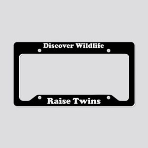 Discover Wildlife Raise Twins License Plate Holder