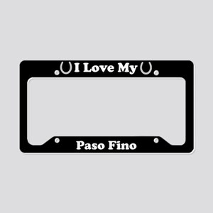 I Love My Paso Fino Horse License Plate Holder