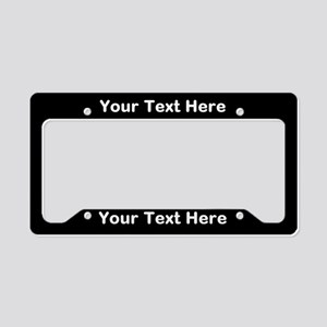 Custom Black License Plate Holder
