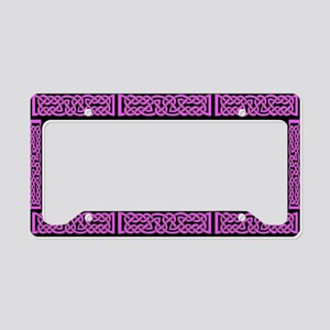 Celtic Knot Magenta License Plate Holder