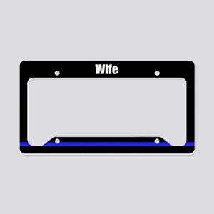 Police Wife License Plate Holder