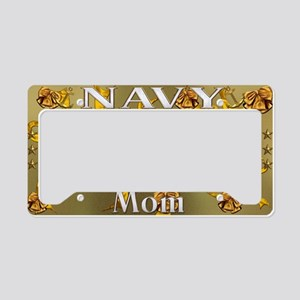 Harvest Moons Navy Mom License Plate Holder
