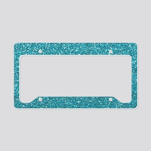 Sky Blue Glitter License Plate Holder