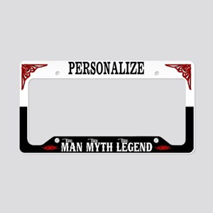 Custom Man Myth Legend License Plate Holder