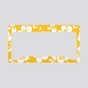 Yellow Hawaiian Hibiscus License Plate Holder