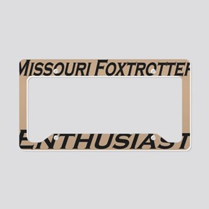 FTEnthusBeige License Plate Holder