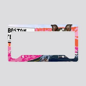 LP-driving-boston-terrier License Plate Holder
