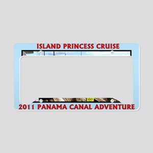 Island Princess Panama Canal  License Plate Holder
