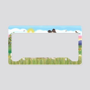 LIC-SummerField-Sheltie7 License Plate Holder