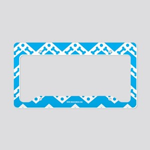 Dog Bone Chevron TEAL License Plate Holder