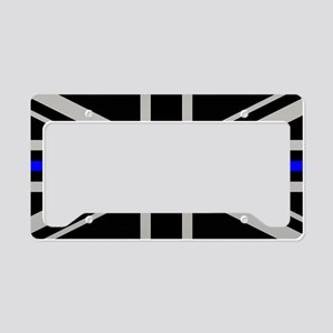 British Flag: Thin Blue Line License Plate Holder