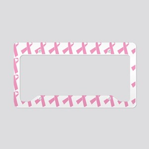 pink ribbon BC awareness patt License Plate Holder