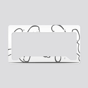 poodles of distinction License Plate Holder