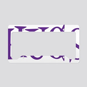 purple Hugs License Plate Holder