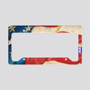 Land of the Free Brother License Plate Holder