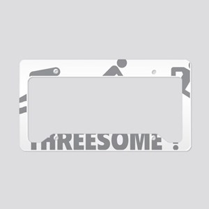 triaThreesome1C License Plate Holder