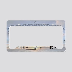 Gods Grace Note License Plate Holder