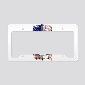 AMERICAN KNIGHT GOD WILLS IT License Plate Holder