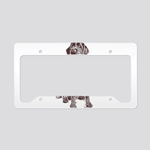 Wirehaired Pointing Griffon License Plate Holder