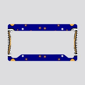 Sugar Skull ROYAL BLUE License Plate Holder