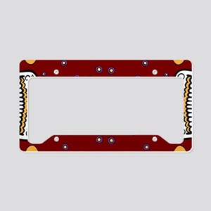 Sugar Skull GARNET License Plate Holder