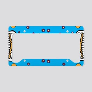 Sugar Skull TEAL License Plate Holder