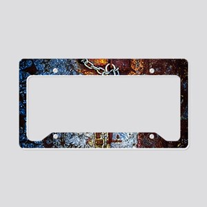 Chained Rust License Plate Holder