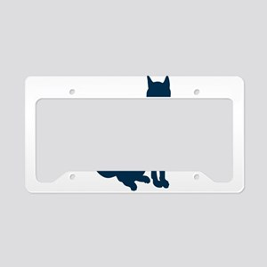 Silhouette of cat License Plate Holder