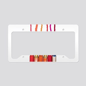 Lipstick colors License Plate Holder