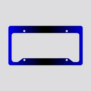 Electric Blue License Plate Holder