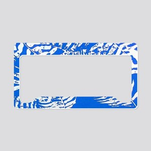 White Palm Leaves License Plate Holder