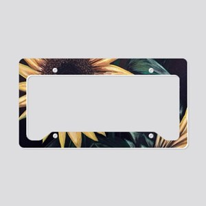 Sunflower Life License Plate Holder