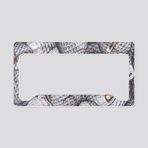 Golf Balls License Plate Holder