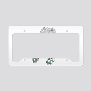 Westie Dog Biscuit License Plate Holder