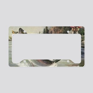 Vintage Fishing, Rainbow Trou License Plate Holder